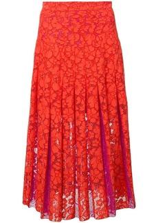 Diane Von Furstenberg floral lace embroidered skirt