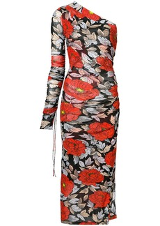 Diane Von Furstenberg floral one shoulder dress
