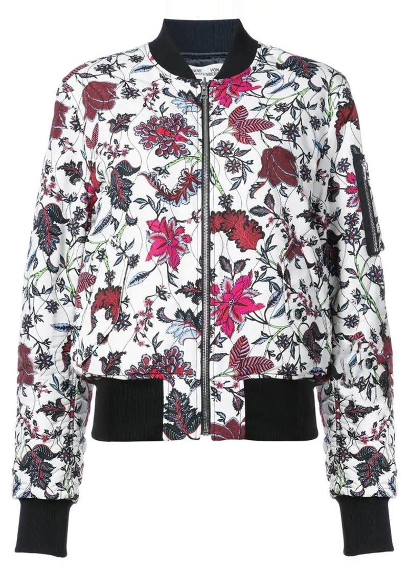 Diane Von Furstenberg floral print bomber jacket