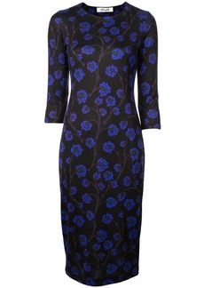Diane Von Furstenberg floral print fitted dress