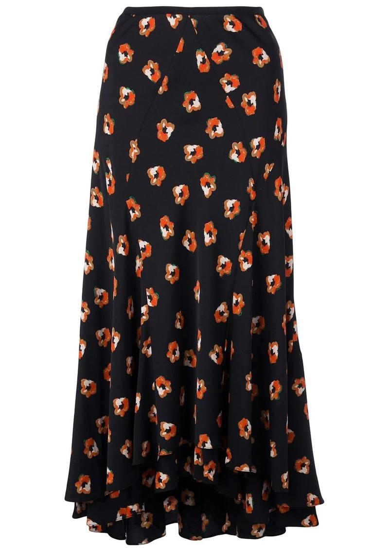 Diane Von Furstenberg floral print flared skirt