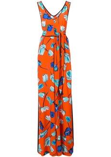 Diane Von Furstenberg floral print sleeveless jumpsuit
