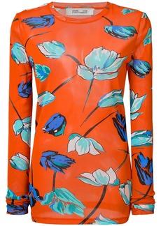 Diane Von Furstenberg floral print long sleeve blouse