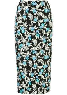 Diane Von Furstenberg floral print pencil skirt