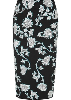 Diane Von Furstenberg Floral-print Stretch-cady Pencil Skirt