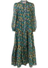 Diane Von Furstenberg floral print tiered dress