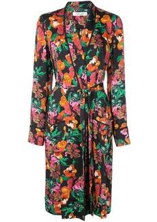 Diane Von Furstenberg floral print trench coat