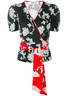 Diane Von Furstenberg floral print wrap blouse