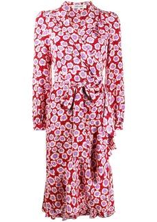 Diane Von Furstenberg floral print wrap dress