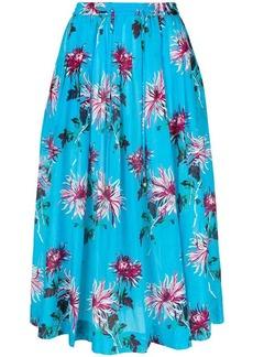 Diane Von Furstenberg floral printed full skirt