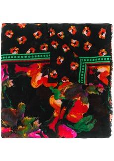 Diane Von Furstenberg floral watercolour scarf