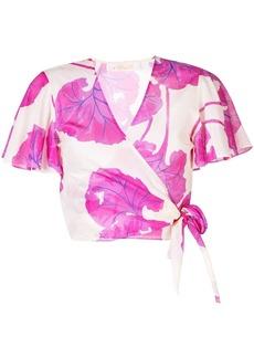 Diane Von Furstenberg floral wrap blouse