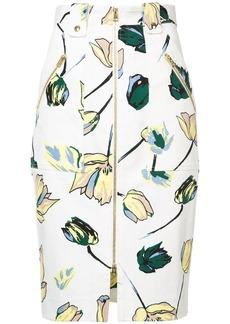 Diane Von Furstenberg floral zipped skirt