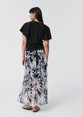 Diane Von Furstenberg Florence Two Cotton Top in Black