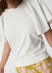 Diane Von Furstenberg Florence Two Cotton Top in White