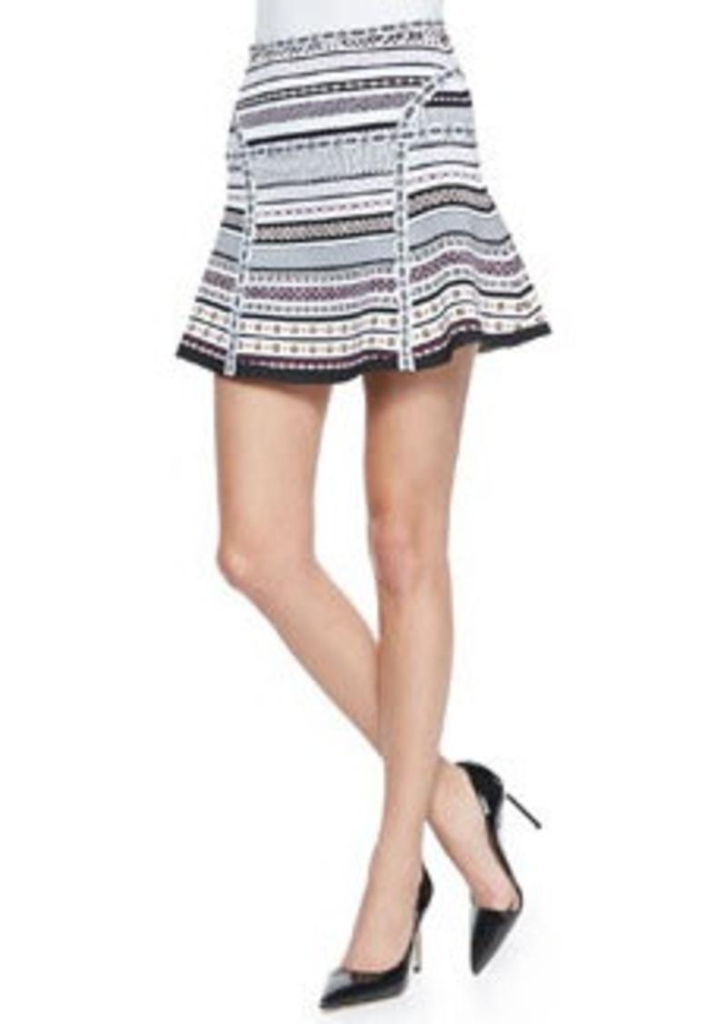 Diane Von Furstenberg Flote Banded Dot Flounce Skirt   Flote Banded Dot Flounce Skirt