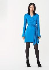 Diane Von Furstenberg Freesia Slinky Jersey Mini Wrap Dress