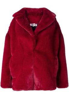 Diane Von Furstenberg faux fur jacket