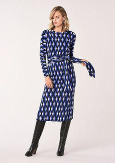 Diane Von Furstenberg Gabel Merino Wool Belted Dress