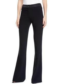 Diane Von Furstenberg Garnett Mid-Rise Flare-Leg Crepe Pants