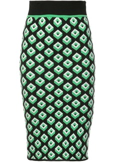 Diane Von Furstenberg geometric cube skirt