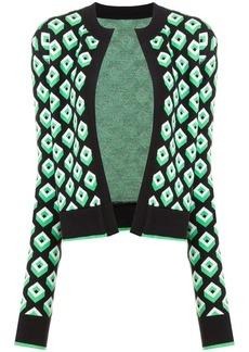Diane Von Furstenberg geometric open front cardigan