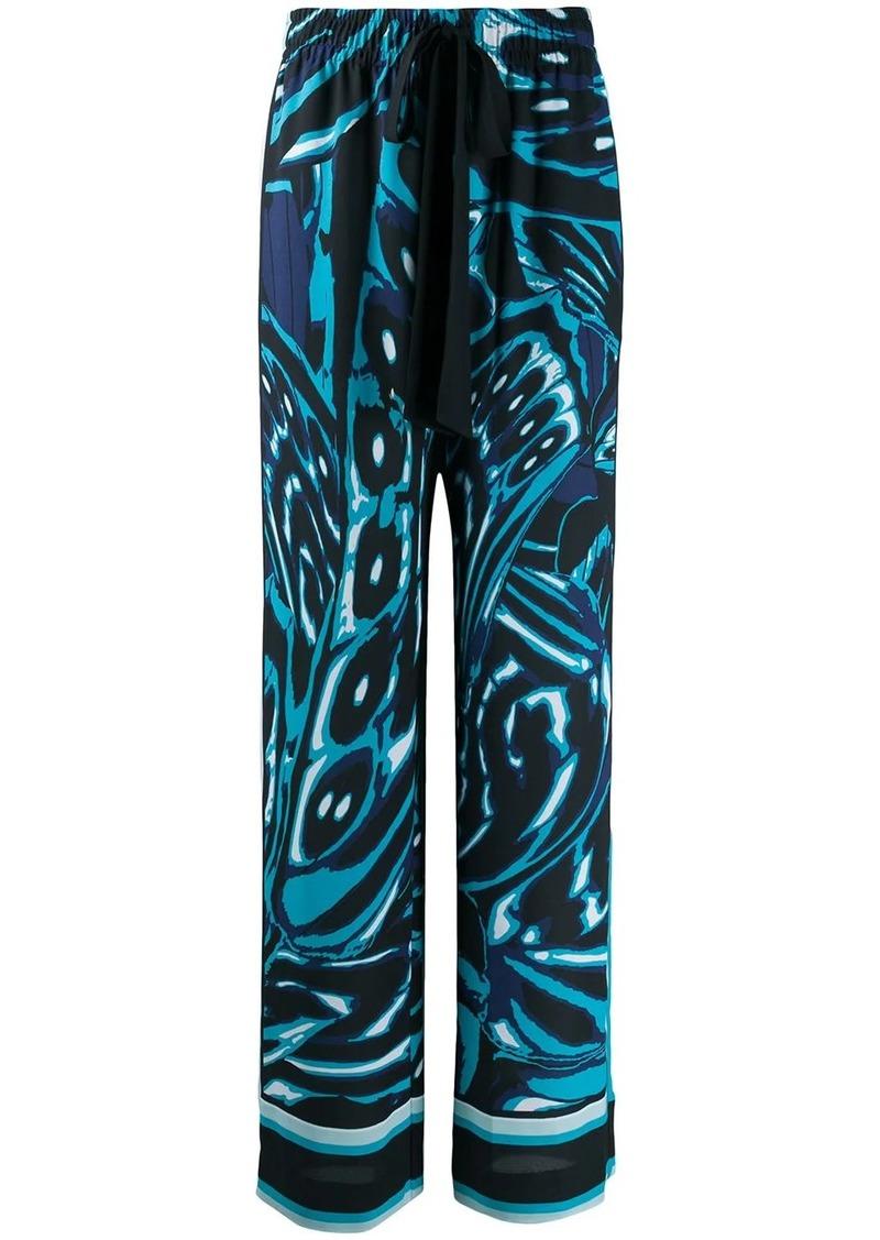 Diane Von Furstenberg geometric print wide leg trousers