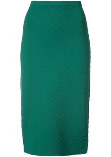 Diane Von Furstenberg geometric textured skirt