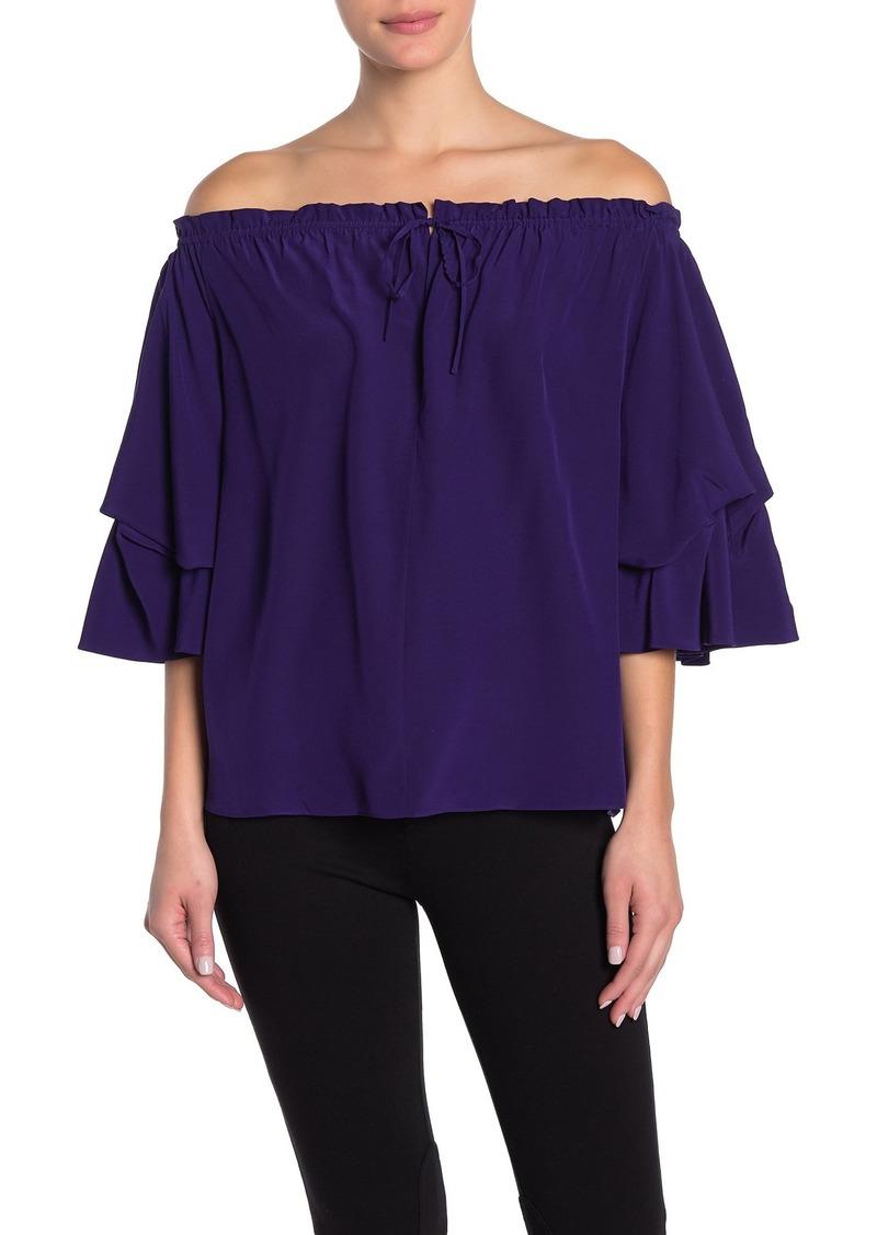Diane Von Furstenberg Georganne Off-the-Shoulder Silk Top