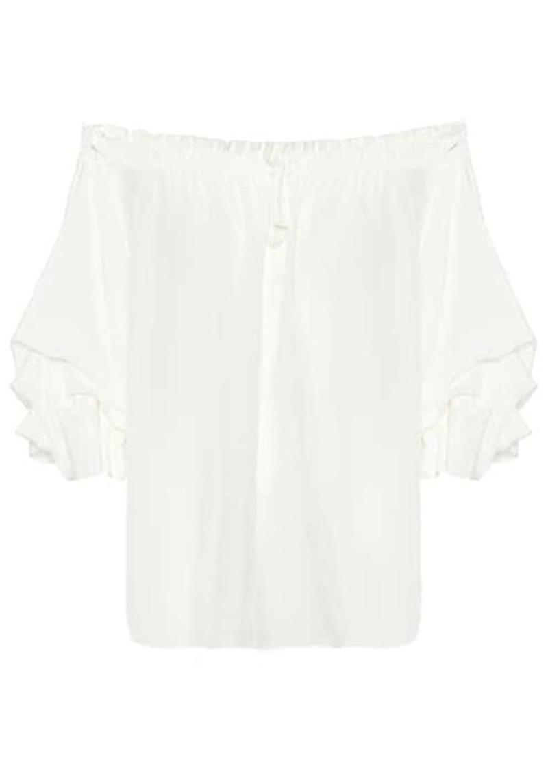 Diane Von Furstenberg Georganne silk crêpe blouse