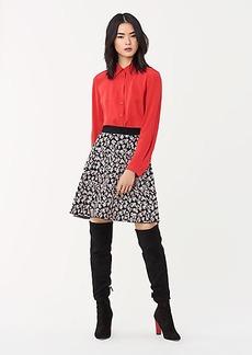 Diane Von Furstenberg Georgette Jacquard Knit Mini Skirt