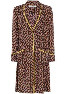 Diane Von Furstenberg Georgette smoking jacket