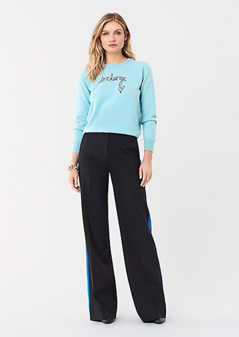 Diane Von Furstenberg Georgina Stretch Wool Wide-Leg Pant