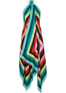 Diane Von Furstenberg Gia Printed Silk-twill Halterneck Midi Dress