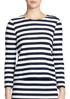 Diane Von Furstenberg Giselle Striped Cotton Top