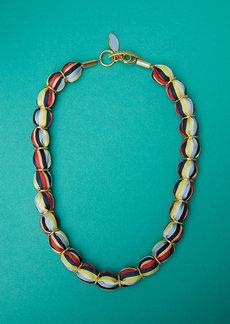 Diane Von Furstenberg Glass Beaded Necklace
