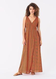 Diane Von Furstenberg Grace Cotton Maxi Beach Wrap Dress