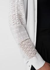 Diane Von Furstenberg Grace Knit Oversized Cardigan in White