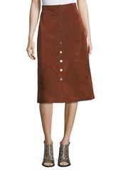 Diane von furstenberg gracelynn button front suede skirt abvea59b1e7 a