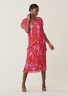 Diane Von Furstenberg Gywneth Pleated Chiffon Midi Skirt