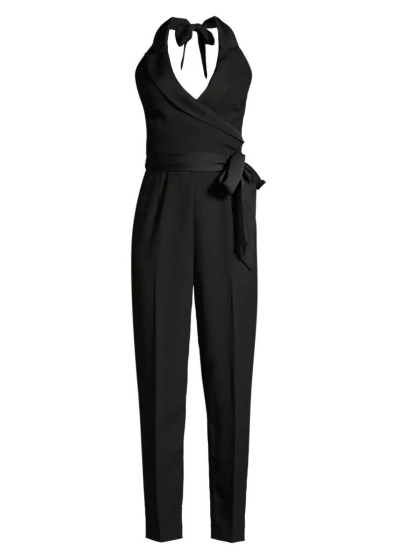 Diane Von Furstenberg Habanna Wrap Tie Jumpsuit