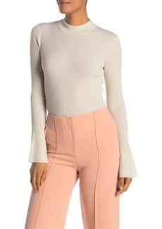 Diane Von Furstenberg Hadleight Bell Sleeve Metallic Wool Blend Knit Sweater