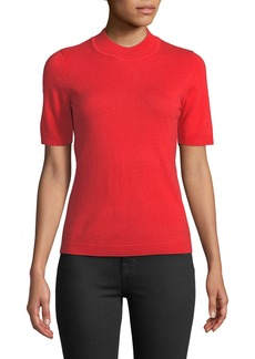 Diane Von Furstenberg Half-Sleeve Mock-Neck Sweater