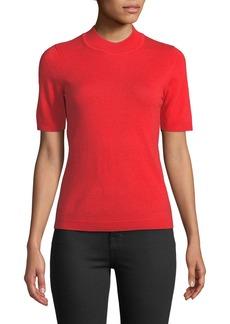 Diane Von Furstenberg Half-Sleeve Mock-Neck Sweater