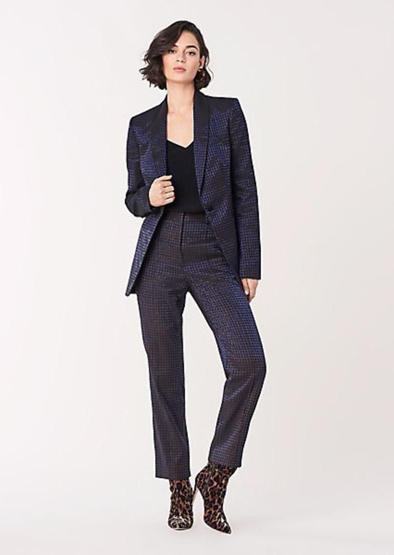 Diane Von Furstenberg Halzie Metallic Jacquard Blazer