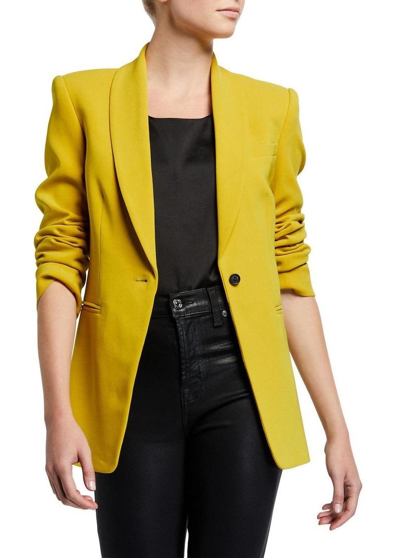 Diane Von Furstenberg Halzie Single-Button Blazer
