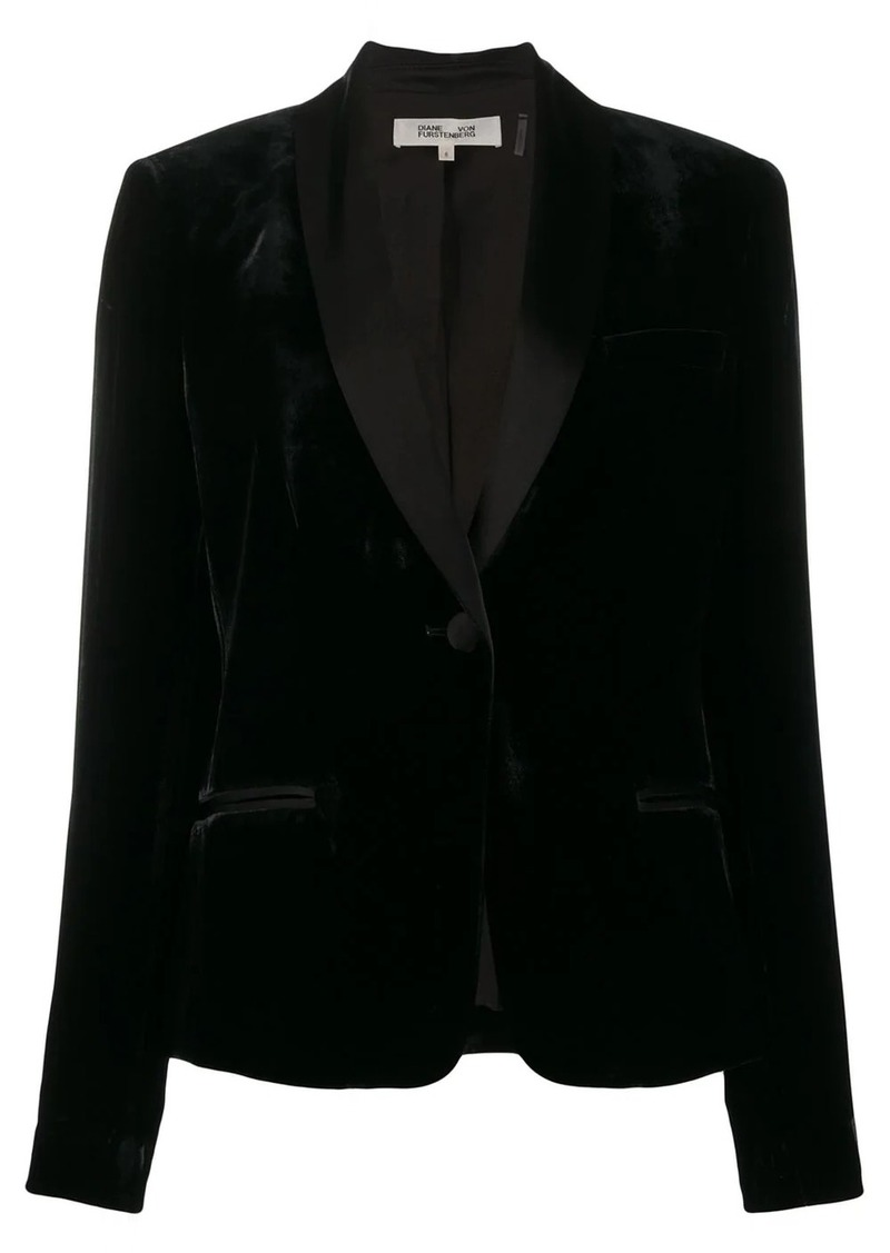 Diane Von Furstenberg Halzie velvet blazer