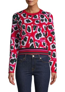 Diane Von Furstenberg Harrison Printed Wool-Blend Sweater