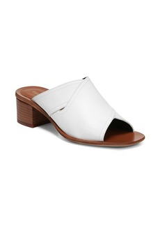 Diane Von Furstenberg Hazel White Cross Leather Mules