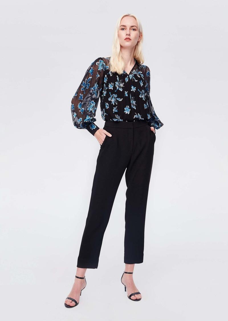 Diane Von Furstenberg Heidi Silk-Chiffon Blouse in Orchid Rain